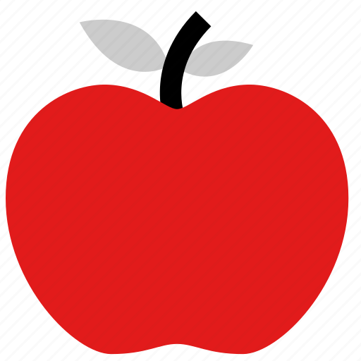 apple, fruit, staff icon