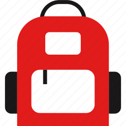 backpack, elementary, learning icon