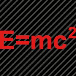 emc2, formula, math icon