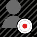 data, online, staff, web icon