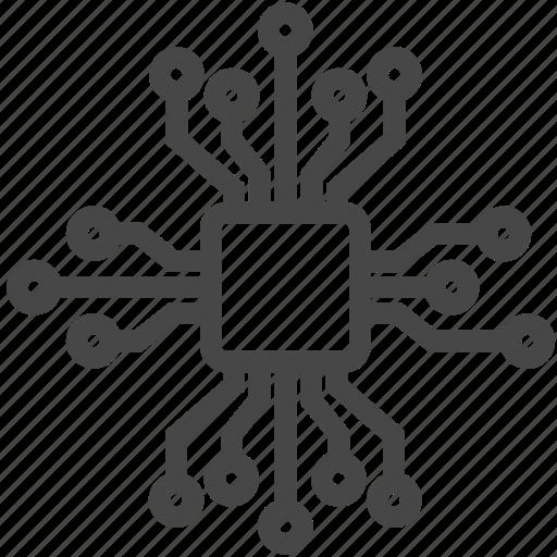 chip, circuit, component, cpu, ic, microchip, processor icon