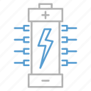 battery, circuit, energy, technology icon