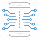 circuit, electronics, mobile, smartphone, technology icon