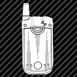 back, electronics, mobile, phone, side icon