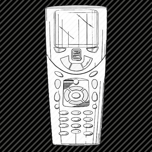 control, electronics, panel, tv icon