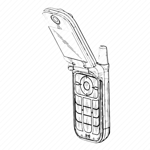 electronics, mobile, personal, phone icon