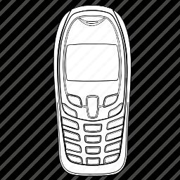 electronics, mobile, phone, telephone icon