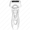 electronics, personal, shave, shaving icon