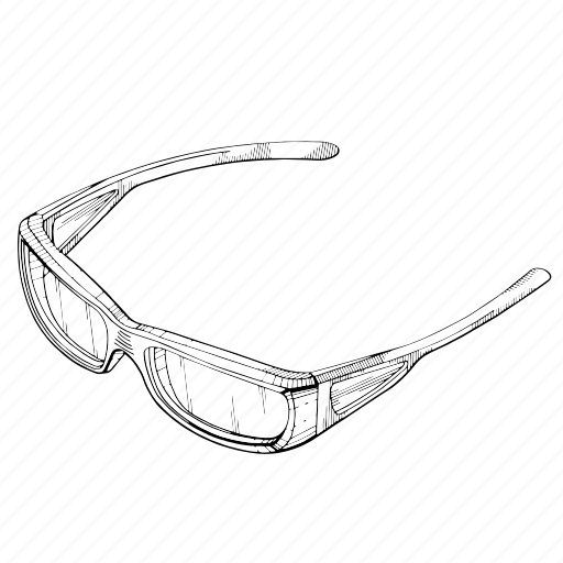 dimention, electronic, glasses, virtual, vision icon