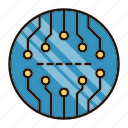 abstract, board, circuit, electronics, processor icon