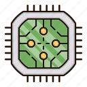 abstract, circuit, electronics, processor, technology icon