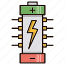 battery, circuit, electronics, power, processor icon