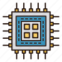 circuit, cpu, electronics, processor icon