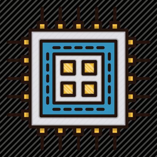 circuit, cpu, electronics, processor icon