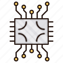circuit, electronics, processor icon