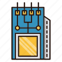 circuit, electronics, module, processor icon