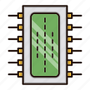 circuit, component, electronics, processor icon