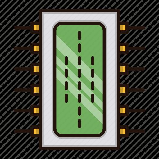 circuit, component, electronics, processor icon