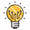 circuit, electronics, processor, solution, technology icon