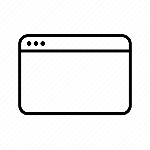 computer, screen, tabbar, window icon