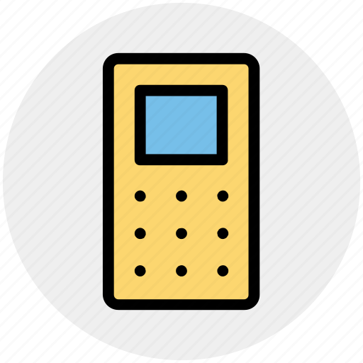 cell phone, cellular phone, keypad mobile, mobile, phone icon