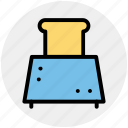 electricals, electronics, slice toaster, toast machine, toaster icon