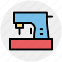 sewing, sewing machine, stitching machine, tailor machine, tailoring icon