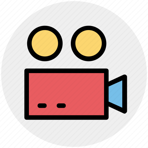 devices, electronics, products, technology, video camera icon