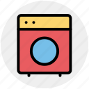 clothes, electronics, machine, washing, washing machine icon