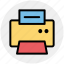electronics, fax, fax machine, paper, printer icon