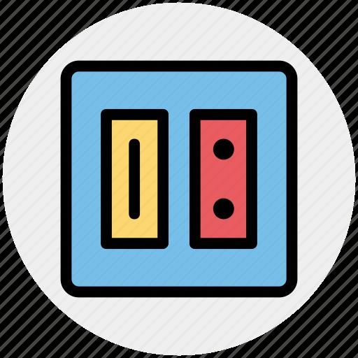 electric, energy, outlet, plug, socket, switch plug icon