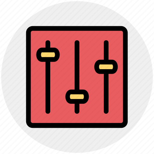 equalizer, multimedia, music preferences, sound settings, volume adjuster icon