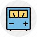 electronics, meter, scale, voltage, voltmeter icon
