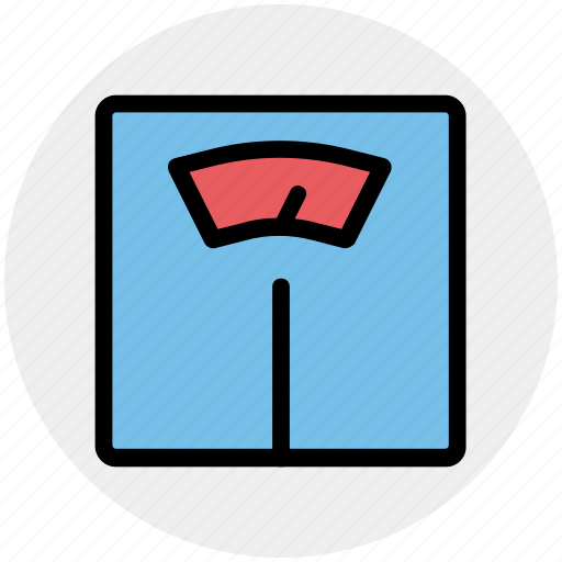 fitness, meter, scale, weight, weight check icon