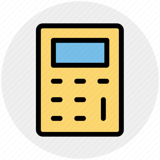 accounting, calc, calculator, machine, math, stationery icon