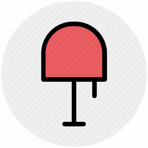 bedside lamp, electric lamp, lamp, light, table lamp icon
