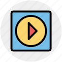 media, play, play button, play media, player icon