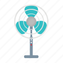 air, and, blade, electric, elelctronic, fan, table icon