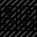 loudspeakers, speaker, speaker box, subwoofer icon