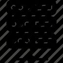 database, network server, server, server connection icon
