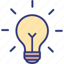 bulb, electric bulb, idea icon