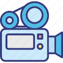camera, film camera, film recorder, movie camera icon