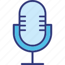 mic, microphone, radio mic, recording icon