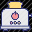 electricals, slice toaster, toast machine, toaster icon