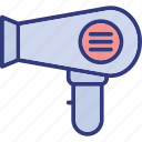 blow dryer, hair dryer, hair heater, hair styling icon