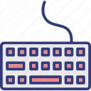 computer keyboard, electronics, keyboard, typing board icon
