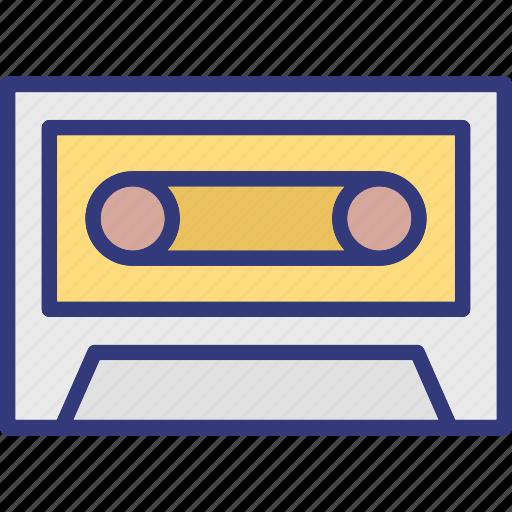 audio tape, cassette, cassette tape, compact cassette icon