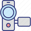 camcorder, camera, handycam, video camera icon