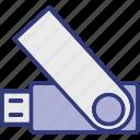 flash drive, memory stick, pen drive, usb icon