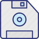 diskette, floppy, floppy disk, floppy drive icon